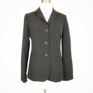 Theory Wool Notch collar button long blazer